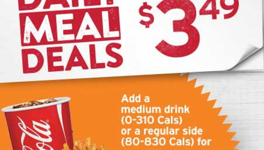 Popeyes Daily Meal Deals